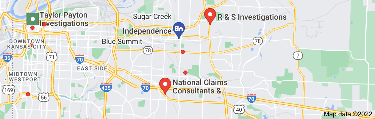 Map of private investigator independence missouri