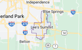 Map of Lee's Summit