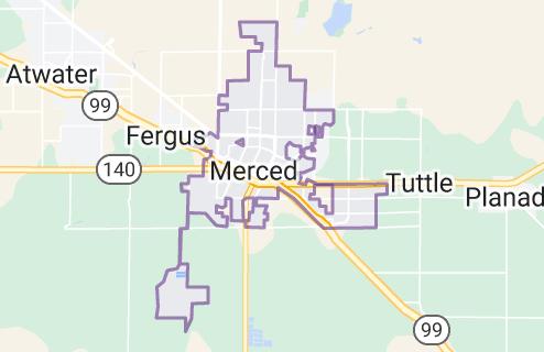 Map of Merced, California