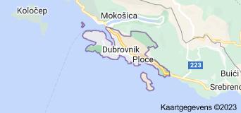 Kaart van Dubrovnik