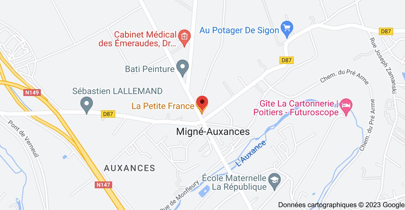 42 Rue de Saumur, 86440 Migné-Auxances: carte