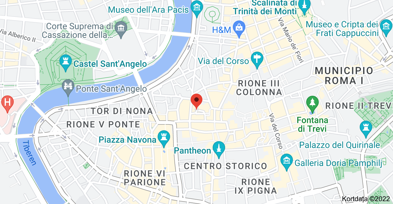 Kort over Via degli Spagnoli, 2, 00186 Roma RM, Italien