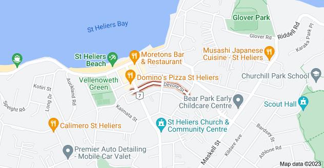 Location of Devore Street