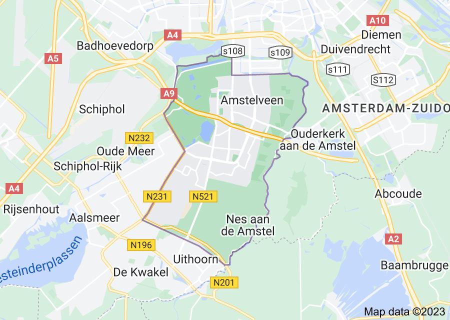 Location of Amstelveen