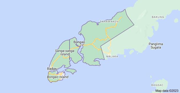 Map of Bongao, Tawi-Tawi, Philippines