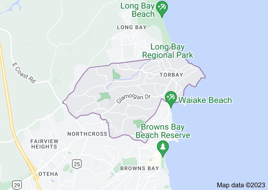 Location of Torbay, New Zealand