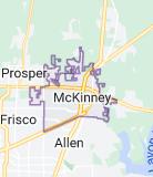 Map of McKinney, Texas