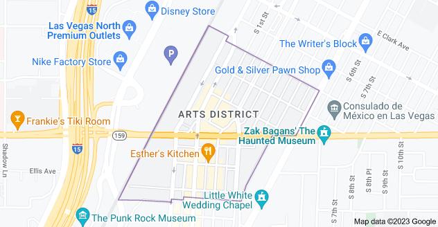 Map of Arts District, Las Vegas, NV