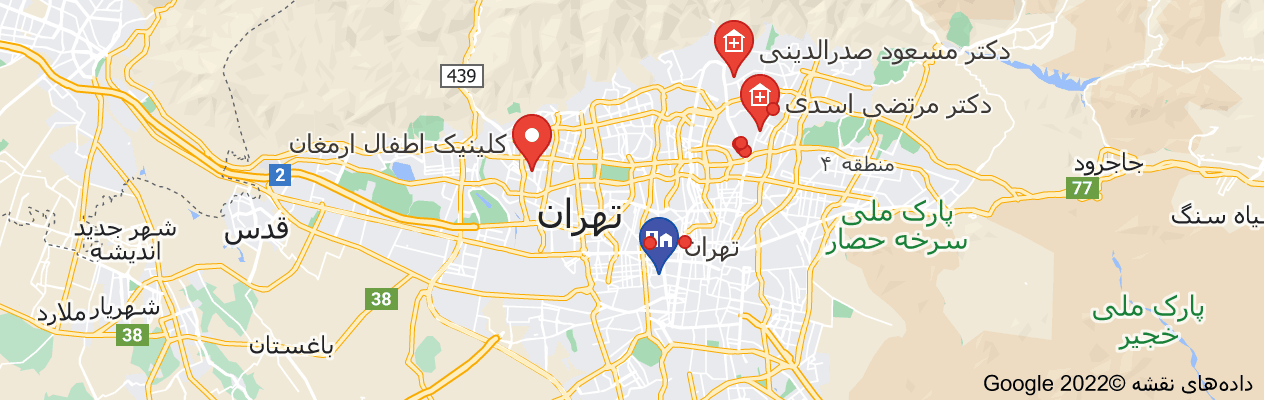 نقشه دکتر فوق متخصص اطفال در غرب تهران
