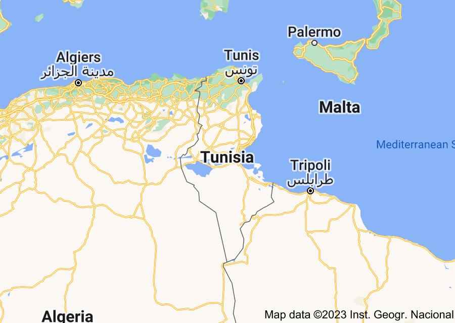 Location of Tunisia
