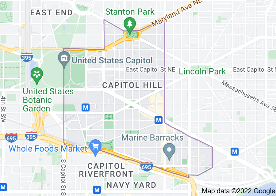 Location of Capitol Hill