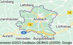 Karte von Ansbach