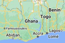 Location of Ghana