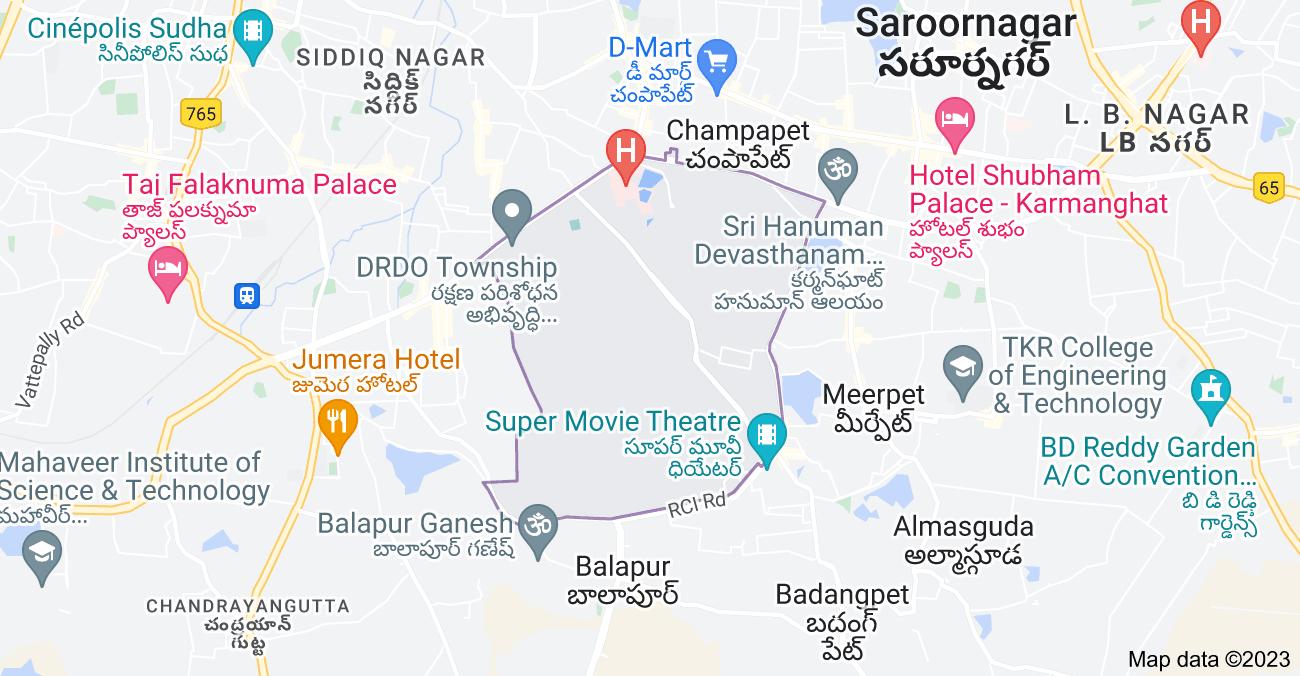 Map of Kanchan Bagh, Hyderabad, Telangana, India