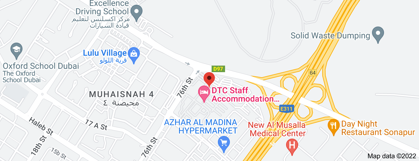 Location of RTA Fine Payment Center for fines incurred in RTA buses (NOL Card) & Illegal Passenger Transport