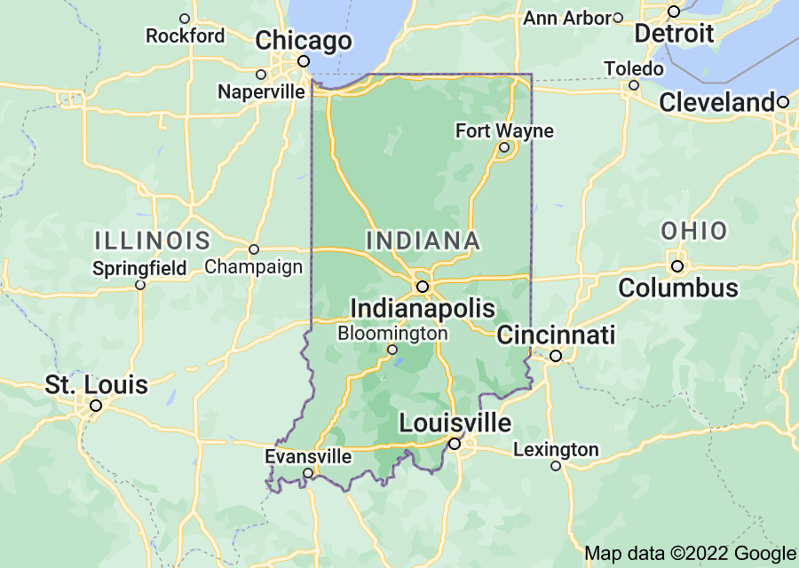 Location of Indiana