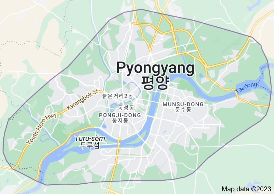Location of Pyongyang
