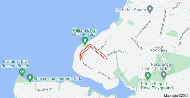 Location of William Bryan Drive