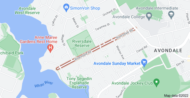 Location of Riversdale Road