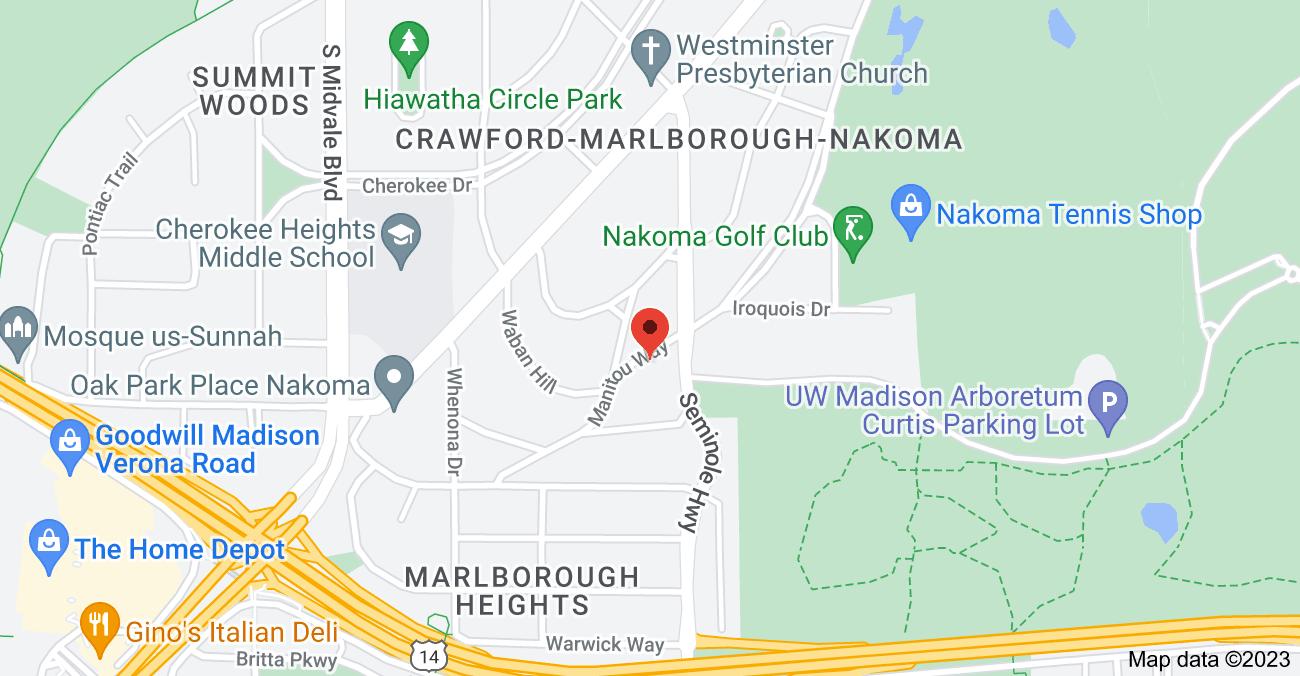 Map of 4205 Manitou Way, Madison, WI 53711