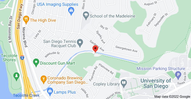Map of 5180 Tecolote Rd, San Diego, CA 92110