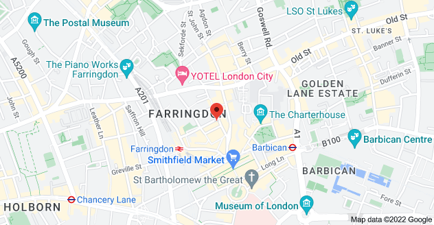 Map of Vault, 8, 11 St John's Ln, Farringdon, London EC1M 4BF