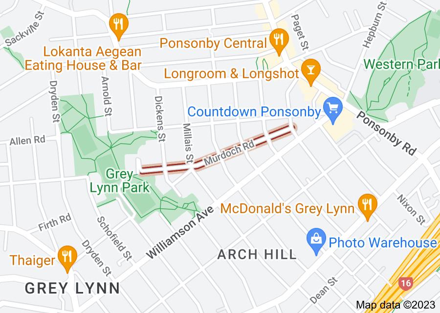 Location of Murdoch Road
