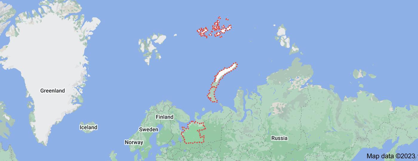 Location of Arkhangelsk Oblast
