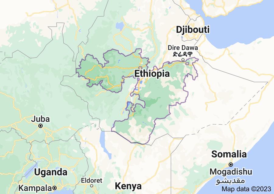 Location of Oromia