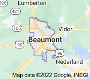 Map of Beaumont, Texas
