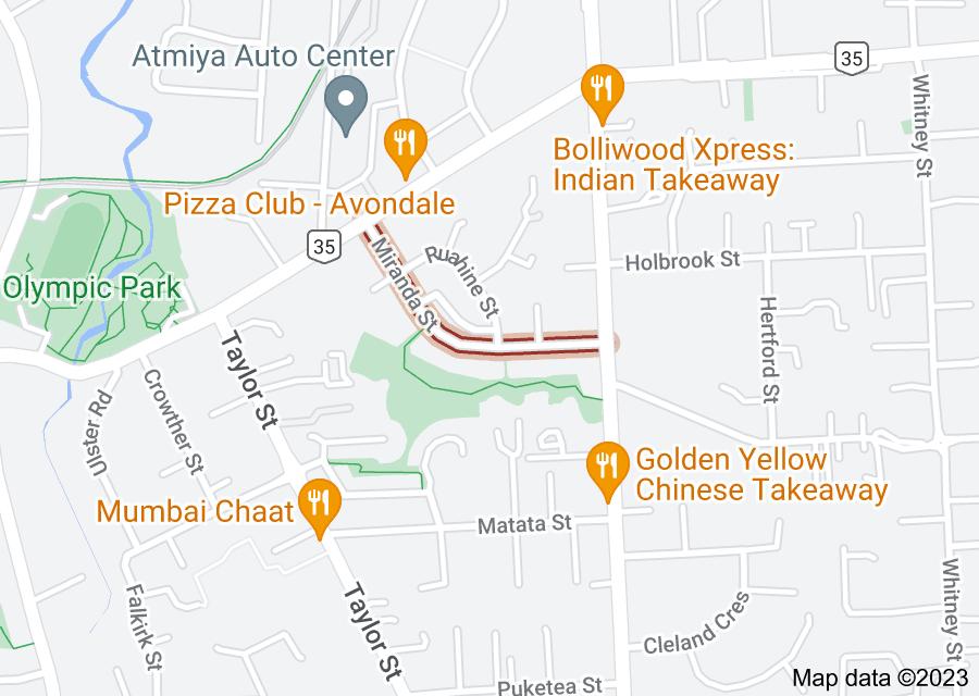 Location of Miranda Street