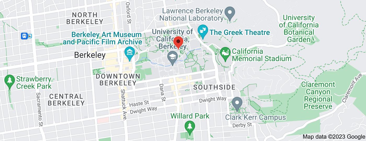 Location of University of California, Berkeley