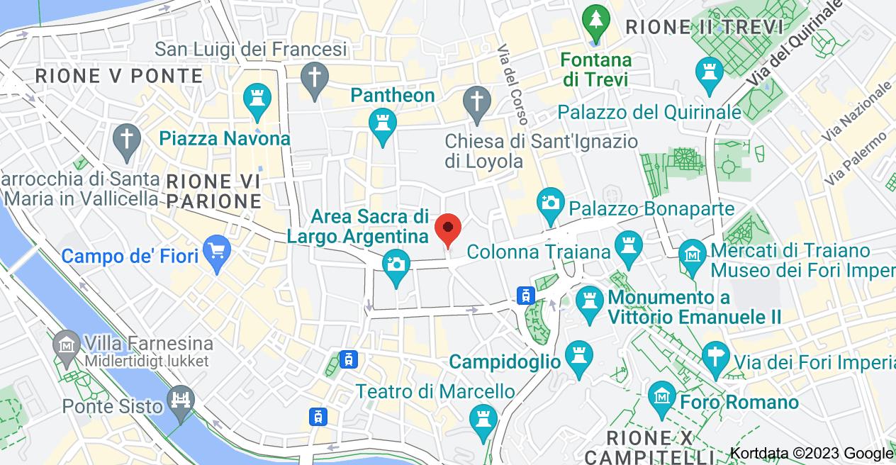 Kort over Via del Gesù, 10, 00186 Roma RM, Italien