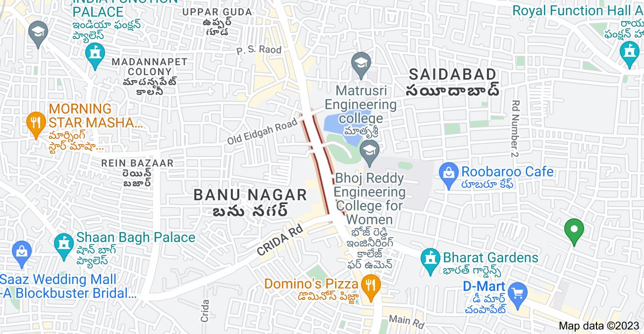 Map of IS Sadan Rd, Hyderabad, Telangana 500059, India