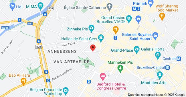 Rue des Riches Claires 30, 1000 Bruxelles: carte