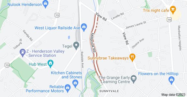 Location of Millbrook Road