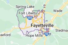 Map of Fayetteville, North Carolina