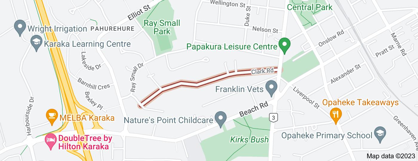 Location of Clark Road