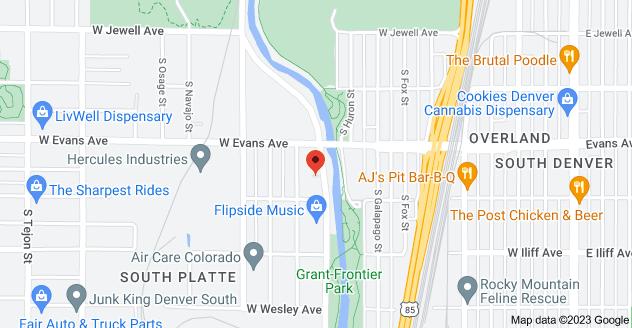 Map of 2161 S Platte River Dr, Denver, CO 80223, USA