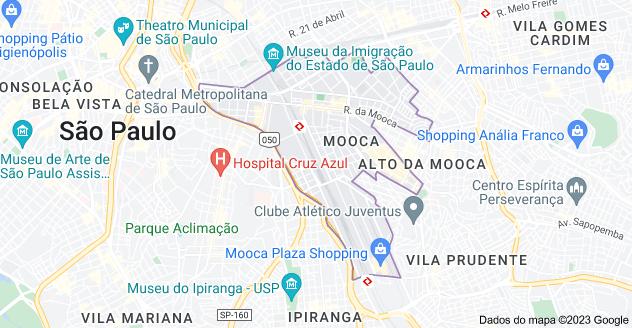 Mapa de Mooca, São Paulo - SP