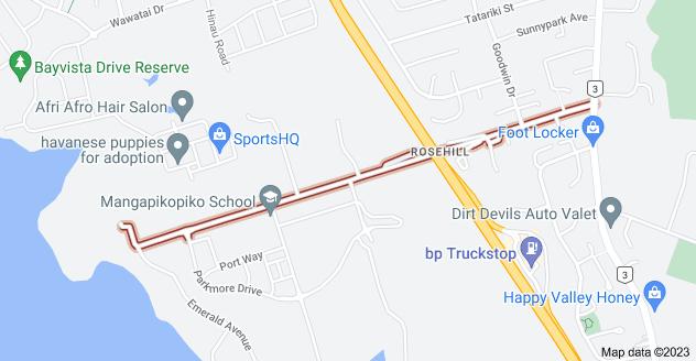 Location of Park Estate Road