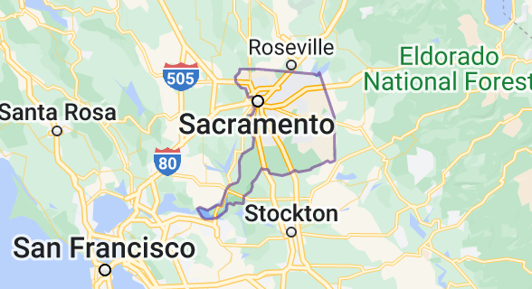Map of Sacramento County