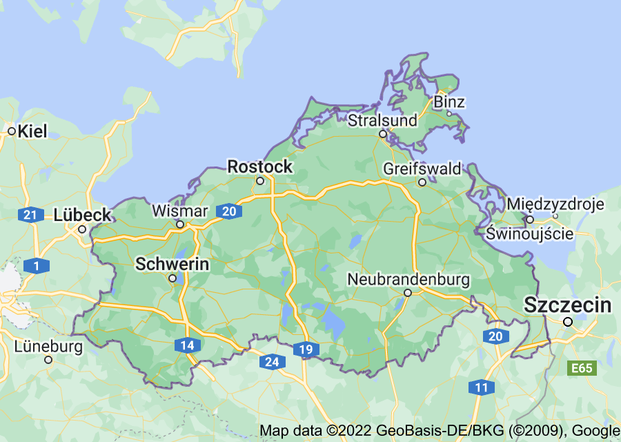 Location of Mecklenburg-Vorpommern