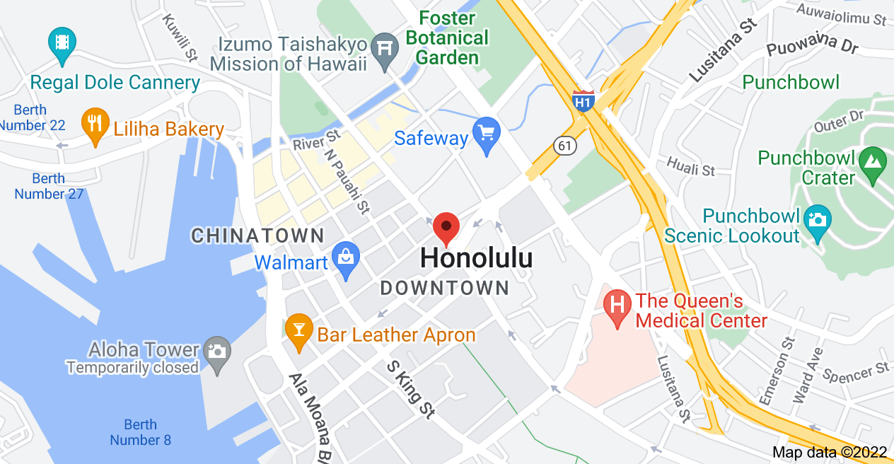 Map of 1188 Bishop St, Honolulu, HI 96813