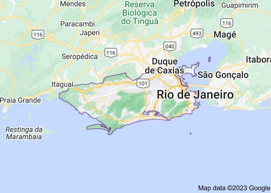 Location of Rio de Janeiro