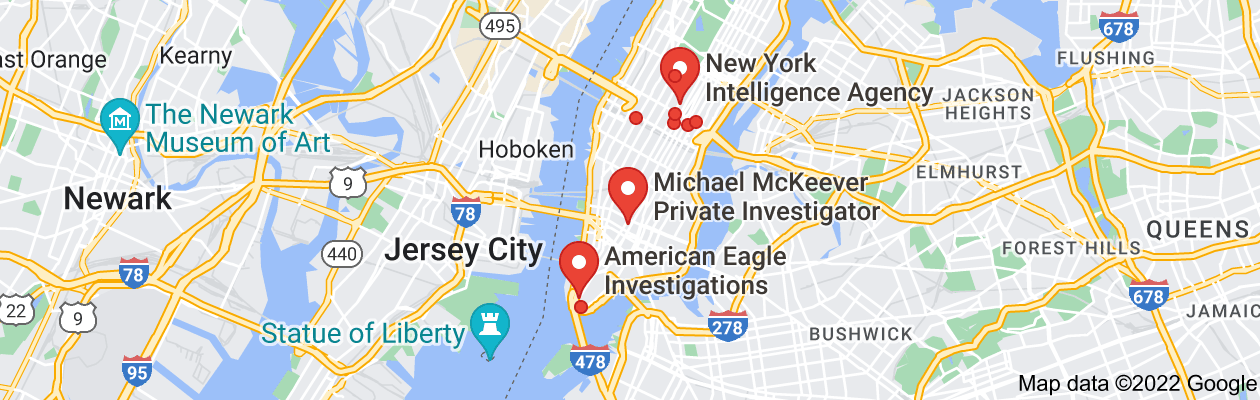 Map of private investigator new york state