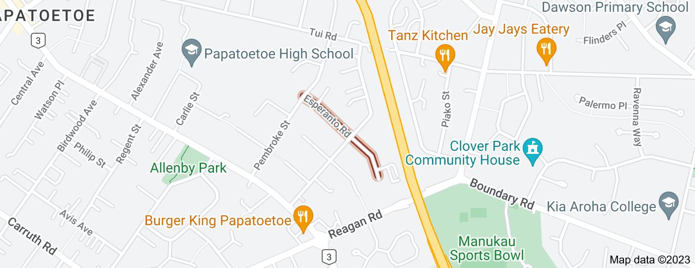 Location of Esperanto Road