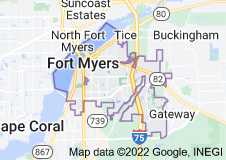 Map of Fort Myers, Florida