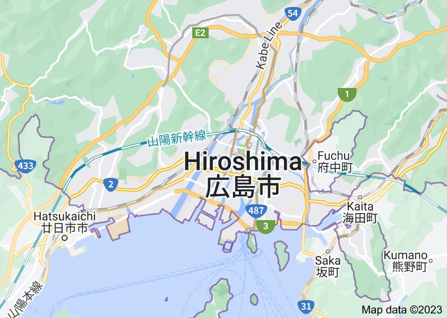 Location of Hiroshima