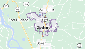 Map of Zachary, Louisiana